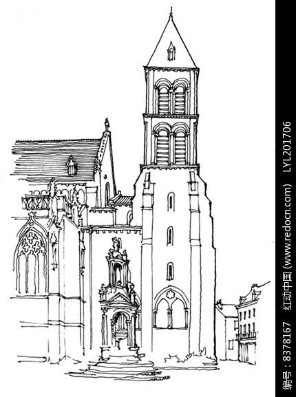 古典建筑手绘图