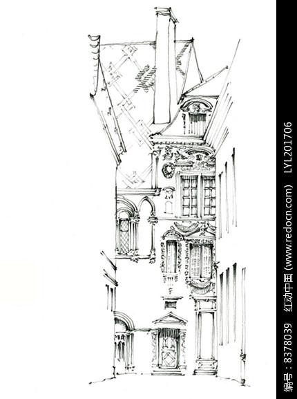 街道手绘图