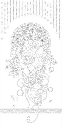 玫瑰花花纹雕刻图案