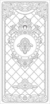 欧式奢华花纹雕刻图案路径