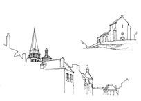 手绘线稿图