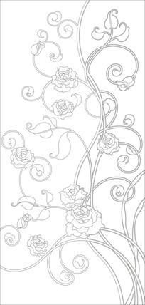 现代花纹雕刻图案路径