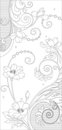 鲜花欧式花纹玄关雕刻图案