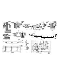 泳池及周边树池施工图