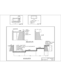 游泳池墙体剖面施工图CAD dwg