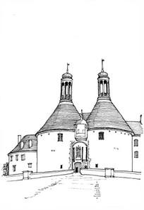 圆顶建筑手绘图 JPG