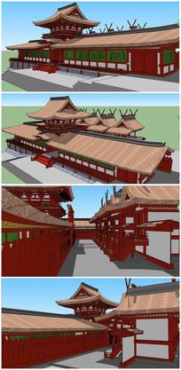 东南亚特色泰式建筑SU模型