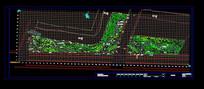 河边道路绿化图