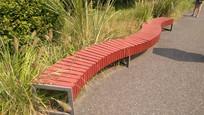 红色木坐凳 JPG