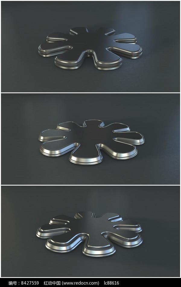 金属花朵立体花瓣造型旋转视频图片