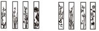 梅兰竹菊雕刻图案