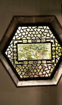 中式园林六边形漏窗 JPG