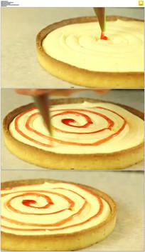 蛋挞装饰番茄酱实拍视频素材