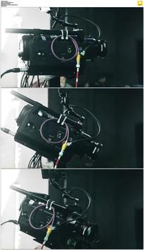 电影摄像机实拍视频素材