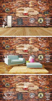 复古怀旧墙壁咖啡背景墙