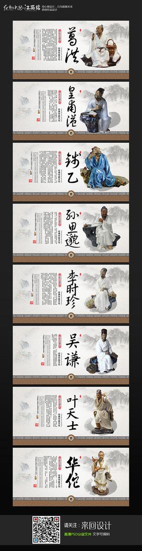 古代中华名医展板