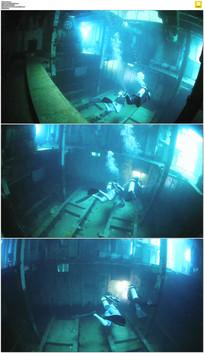 海底沉船寻宝实拍视频素材