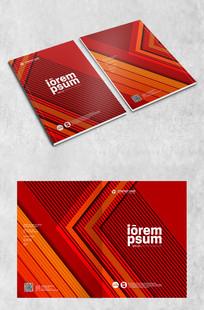 红色高端创意封面设计