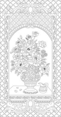 欧式花瓶花纹雕刻图案 CDR