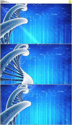 旋转的DNA科技背景视频素材