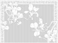玉兰欧式花纹雕刻图案