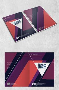 紫色几何拼接创意封面设计