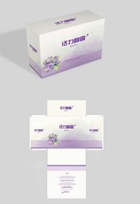 紫色葡萄口服液包装盒 AI