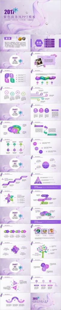 紫色商务风商务PPT