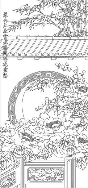 中式雕刻图案