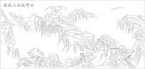 黄金山谷起祥云雕刻图案