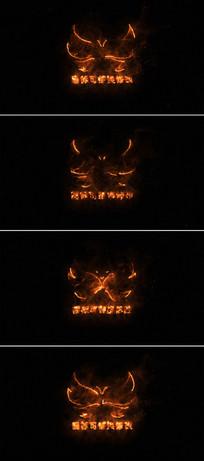 火焰燃烧标志展示片头模板