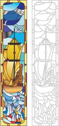 教堂窗花玻璃雕刻图案