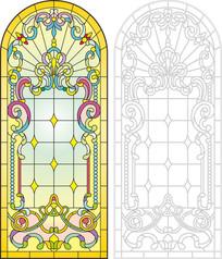 宗教窗户花纹雕刻图案