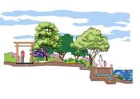 滨水景观设计断面