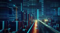 超科幻大数据传输互联网城市