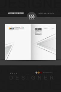 抽象灰白版式封面