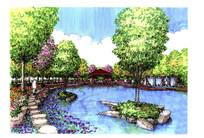 公园水景设计效果图
