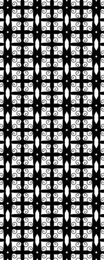 黑白排列花纹图案