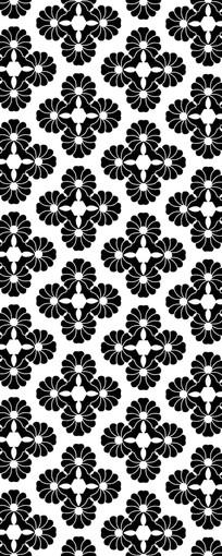 黑色花朵装饰图案