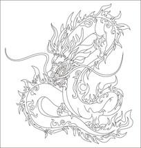 龙形雕刻图案