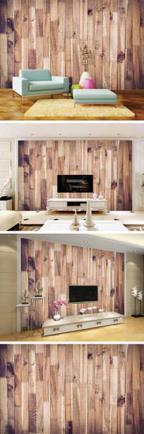 木纹木地板底纹背景墙 TIF