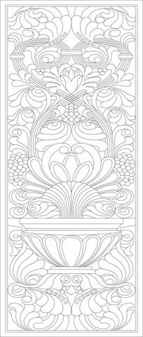 欧式雕花花纹雕刻图案