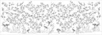 手绘花鸟雕刻图案