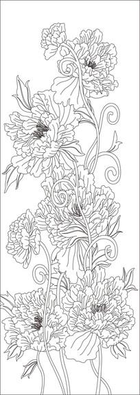 鲜花现代雕刻图案