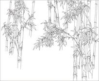 竹林背景墙雕刻图案