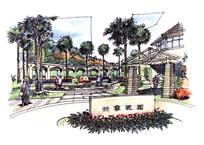 住宅区入口景观
