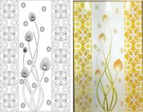 抽象花卉花纹玻璃雕刻图案