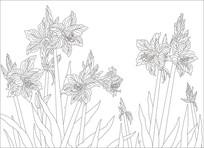 花卉现代背景墙雕刻图案