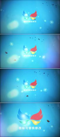 蝴蝶飞舞标志片头模板