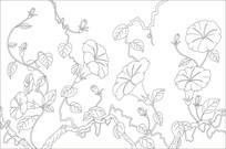 喇叭花玻璃雕刻图案